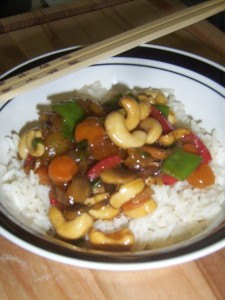 Apricot and Cashew Stir-Fry