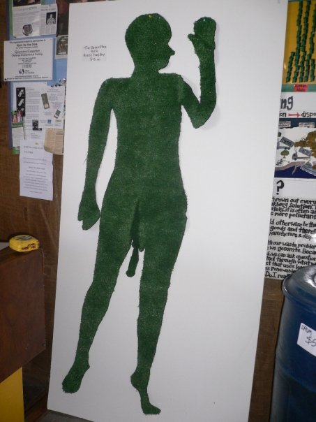 The giant penis poster man - he now hangs on the wall (decorative, but still for sale!)