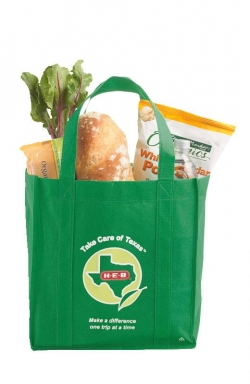 Reusable green bag from HEB in Texas (we used to shop there... cos there was nowhere else to shop)