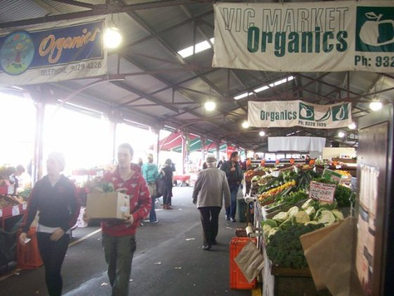 The organics aisle at the Queen Victoria markets.