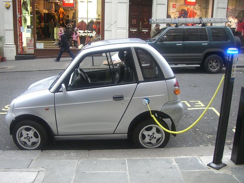 The UK government are funding EV charging stations around the country.