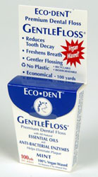 eco dent floss in cardboard box