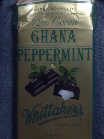whittaker's ghana peppermint chocolate 250g